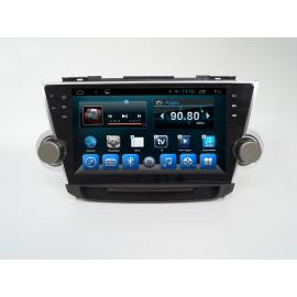 Штатная магнитола Toyota Highlander (2007-2014) Galaxy Android 4.4.2