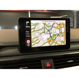 Яндекс навигация Audi A4, Android в A4 9B (2015-2018, 2019, 2020)