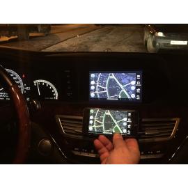 Дублирование картинки с телефона на монитор Mercedes CL (2007-2014)