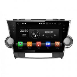 Магнитола Android 10 Toyota Highlander U40 (2008-2013) Carmedia KD-1037-P30