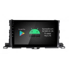 Штатное головное устройство Android 9 Toyota Highlander U50 (2014-2020) Roximo RI-1112