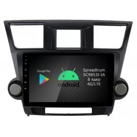 Магнитола Android 9 Toyota Highlander U40 (2008-2013) Roximo RI-1122