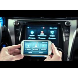 Зеркало телефона на монитор Toyota Camry