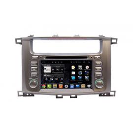 Штатная магнитола Android 9 Toyota LC 100 (2002-2007) Daystar DS-7083HD