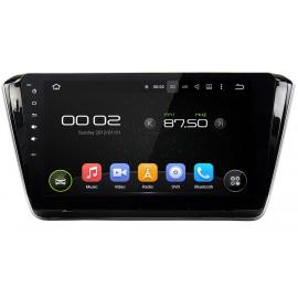 Штатное головное устройство Android 7 Шкода Суперб Б8 (2008-2015) Carmedia KD-1027-P3-7